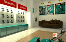 Jasa Interior Desain Showroom Makita Jakarta